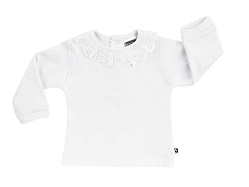 Jacky Jacky Unterzieher für Mädchen mit langen Armen und Spitzenkragen, Größe: 62, Alter: 2-3 Monate, Weiß, 140021
