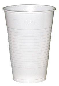 Becher Plastik 0,2 Liter, weiß - 100 St.
