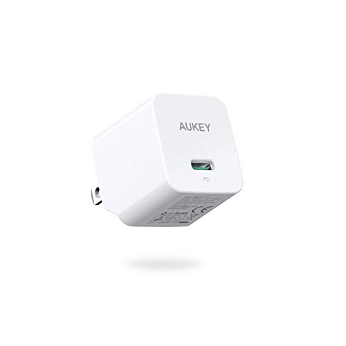 AUKEY 充電器 USB-C急速充電器 アダプタ30W GaN (窒化ガリウム) 採用 折畳式/PD3.0対応 iPhone XS/XS Max/XR/X、GalaxyS9、MacBook Pro、iPad Pro、Nintendo Switchその他USB-C機器対応 PA-Y19 ホワイト