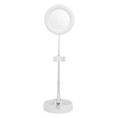 Yuyanshop Luz LED, aleación de aluminio plegable luz en vivo retráctil fuente de alimentación USB 64 lámpara LED con clip de teléfono para maquillaje fotografía de vídeo en vivo