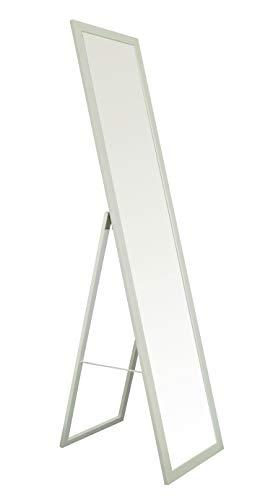 BD ART Stand-Ankleidespiegel Weiß Rustikal 155,8 x 35,8 cm Standspiegel Garderobe Standspiegel Weiß Rustikal Zeitloser eleganter MDF Rahmen