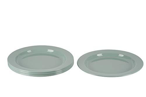 MiraHome Green - Juego de 6 platos grandes, color verde menta