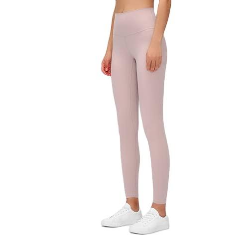 QTJY Pantalones de Yoga Ajustados con Cintura Alta para Mujer, Pantalones Sexis y Suaves para Correr, Pantalones de Entrenamiento para Celulitis, Pantalones de chándal F XL