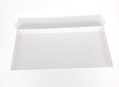 Transparente Briefumschläge, DIN lang, Haftklebestreifen, 100 Stück