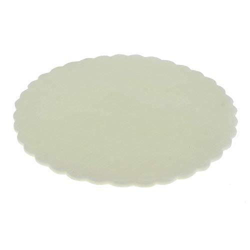 FORMOSO Set 100 PZ Tulle VELI Fiore TONDI D 24 BOMBONIERA BOMBONIERE Colore Panna Art C0108T