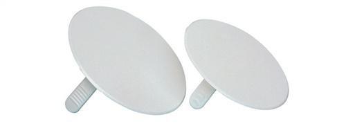 f-tronic Feder-Steckdeckel für Abzweigdose mit Schraubabstand 70mm, E109, Inhalt: 50, Stück