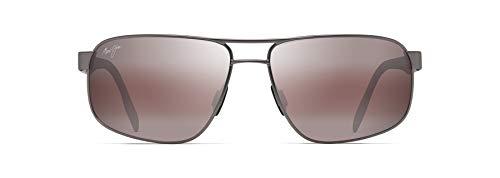 Maui Jim gafas de sol hombre | Whitehaven R776-14A | Montura gris satinado. Lentes polarizadas Maui Rose