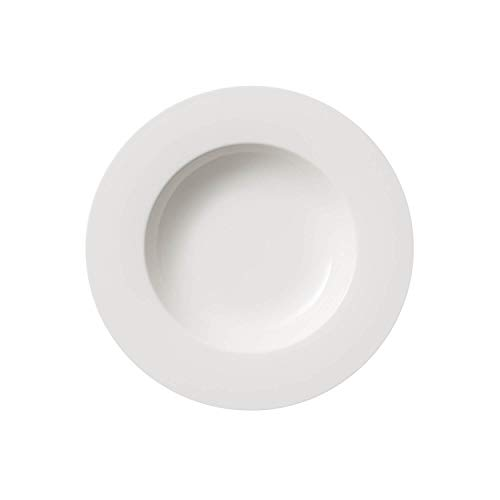 Villeroy & Boch Twist White Suppenteller, Porcelain, Weiß, 24cm