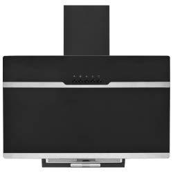 vidaXL Campana Extractora RGB de LED Accesorios Cocina Extraer Escape Humos Grasa Humedad Calor Lavable con Luces Acero INOX Vidrio Templado