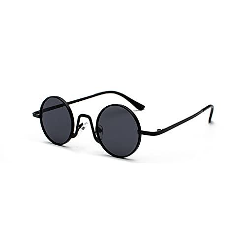 LUOXUEFEI Gafas De Sol Gafas De Sol Redondas Decoración De Hombre Rojo Oro Negro Gafas De Sol Mujer