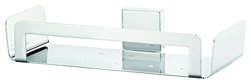 tesa DELUXXE Duschkorb, exquisites Design, Metall, verchromt, rostfrei, inkl. Klebelösung, hohe Belastbarkeit, 55mm x 265mm x 120mm