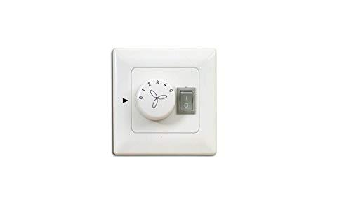 Pepeo interruptor de pared para ventilador de techo con luz, montaje empotrado, apto para todos los fabricantes