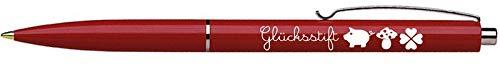 Długopis na szczęście długopis czerwony niebieski kolor czcionki Ringelsuse