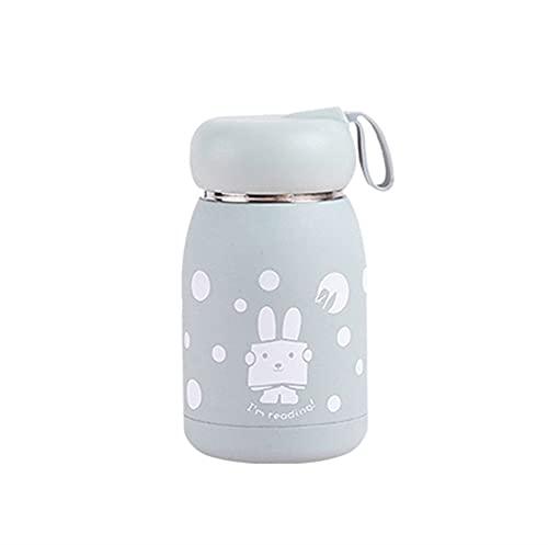 KANCK Taza de Acero Inoxidable Taza Taza de vacío Frascos de vacío Taza de Vientre Botella térmica para Agua Vaso Aislado para niños Café Animal (Capacity : 330ml, Color : Light Green)