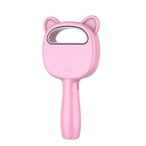 CandyTT Ventilador eléctrico sin Cuchillas de 3 velocidades, portátil, inalámbrico, con Carga USB, Mini Ventilador de Mano, Mini Enfriador de Aire de Escritorio, Ventilador portátil sin Hojas (Rosa)