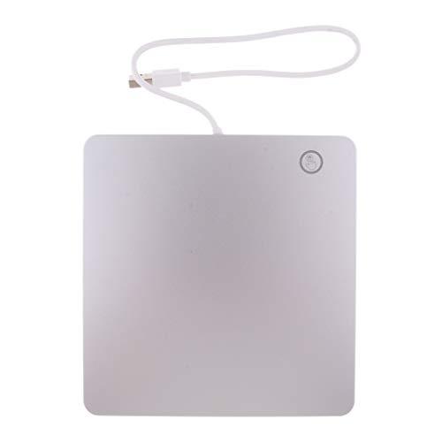perfk USB2.0 External Dvd CD RW Drive Burner per Apple Mac MacBook PRO Air iMac Windows Laptop - Argento