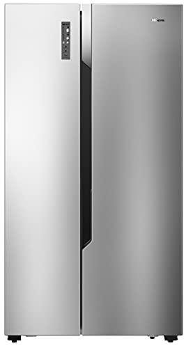 Hisense RS670N4BC2 Side-by-Side Kühl-Gefrierkombination/ NoFrostPlus/ Inverter-Kompressor/ FastFreeze/ Multiflow 360°/ 178,6 cm/ Kühlteil 336 l/ Gefrierteil 185 l/ 43 dB/ 309 kWh/ Jahr/ Inox-Look