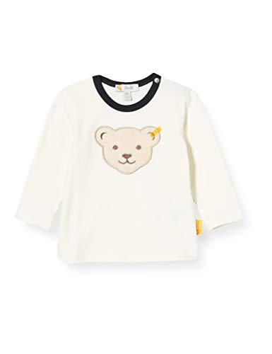 Steiff Baby-Jungen T-Shirt Langarm, Cloud Dancer, 074