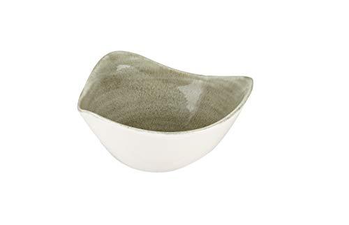 Churchill Stonecast -Triangle Bowl Schüssel- 26cl, Farbe wählbar(Burnished Green)