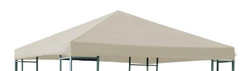 DEGAMO Ersatzdach für Pavillon 3x3 Meter Ecru, Polyester PVC beschichtet wasserdicht