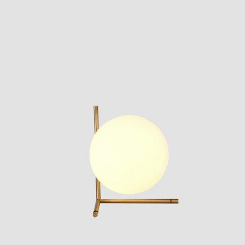 KMYX Postmoderne Lampe de Table avec Lampe en Verre Lampe de Lecture Ombre Or Fer Forgé Bureau Lumières Décoration Étude Chambre Salon Chambre Enfants Chambre (Taille : Style A)