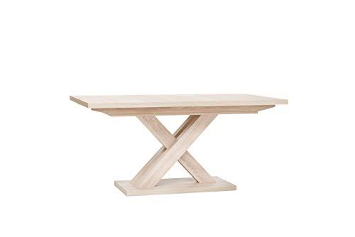 Inter Trade 2051 Table de salle à manger Extensible Bois Chêne Sonoma 160 x 90 x 76 cm