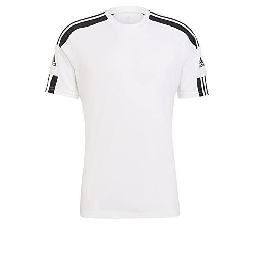 Adidas Herren Squadra 21 Jersey SS T-Shirt, white/black, Large