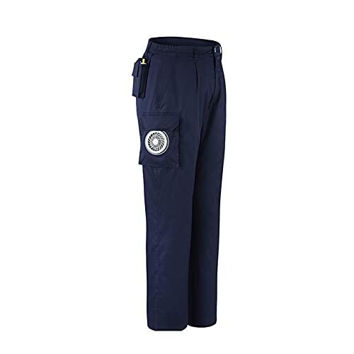 Veste de Vêtements de Climatisation Pantalons avec Ventilateur Coton Poche Adultes,M