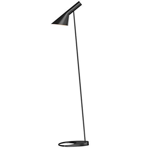 AJ Floor Lamp, Louis Poulsen, Lámpara de Pie Diseñada por Arne Jacobsen (Negro)