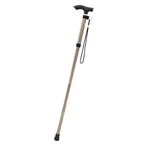 Terryshop74 Bastone pieghevole con molla e gommino di sicurezza 4 altezze regolabili per anziani e persone con problemi motori per uomo e donna inviato del colore disponibile a magazzino