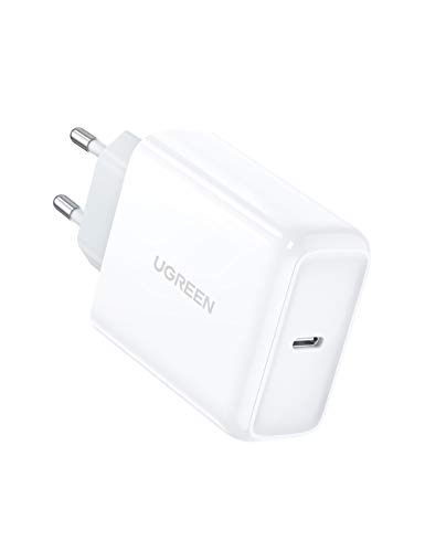 UGREEN 45W Cargador USB C, Cargador Power Delivery 3.0 Cargador Carga Rápida para Samsung S20 Ultra S10 Note 20 Note 10 Xiaomi Mi 9 Redmi 9 iPhone 12 Pro Mini 11 iPad Pro 2020 Macbook Pro 13' Air 13'
