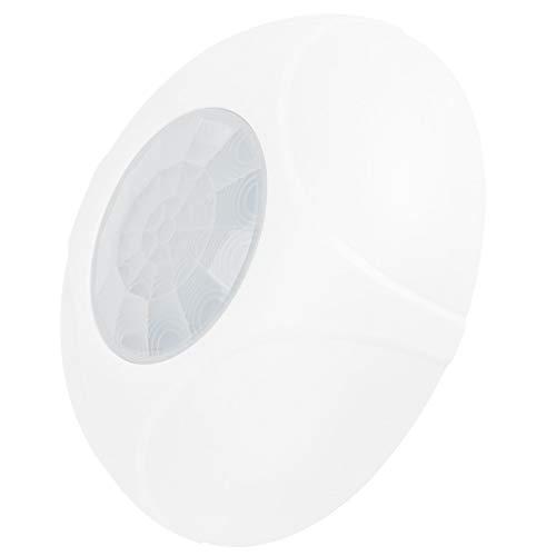 FOLOSAFENAR Detector de Sensor de conteo de pulsos Bipolar Ajustable de Alta Seguridad Retardante de Llama ABS Detector de Infrarrojos de 360 Grados, para Casas