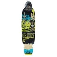 Gravitity Mini Kick Mai Tai Longboard Deck 101,6 cm, Gelb / Blau