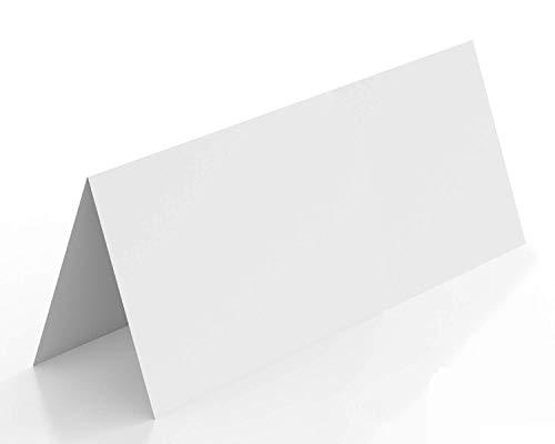 SellerRocket 100 Stück Tischkarten blanko | als Platzkarten, Namenskarten, Tischreservierung, Hochzeit, als Hinweisschild