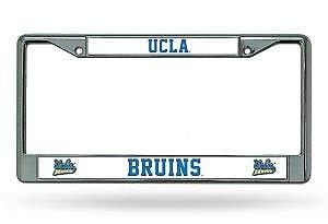 Bhartia UCLA Bruins Chrome License Plate Frame Metal Tag Holder 12' X 6'