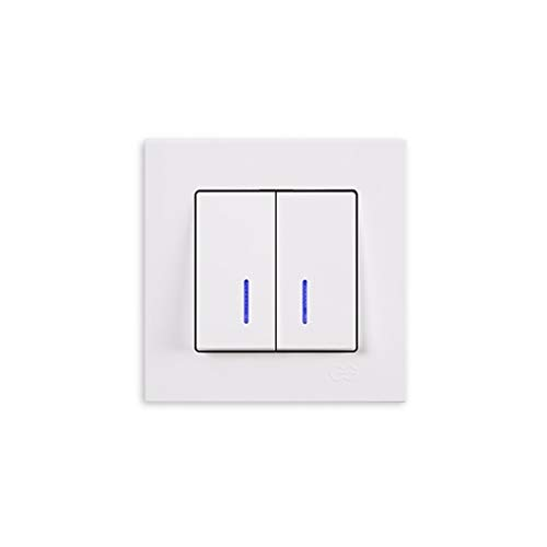 Schalterprogramm Gunsan Eqona weiß (2-fach Serienschalter mit Beleuchtung Unterputz)