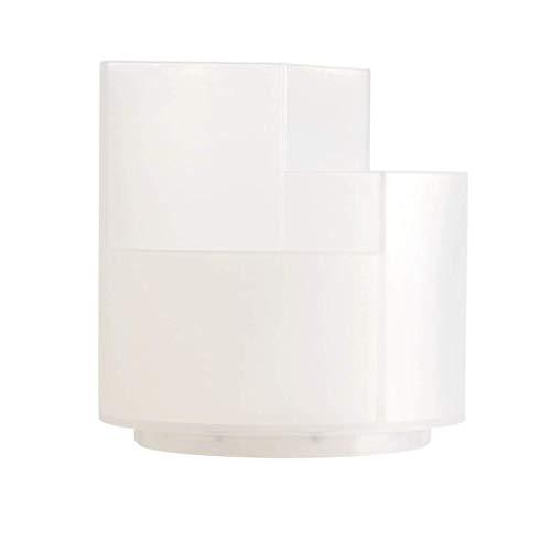 Soporte giratorio de 360 °, organizador de escritorio multifuncional, soporte de cepillo de maquillaje grande, accesorios de almacenamiento clasificados (color claro)