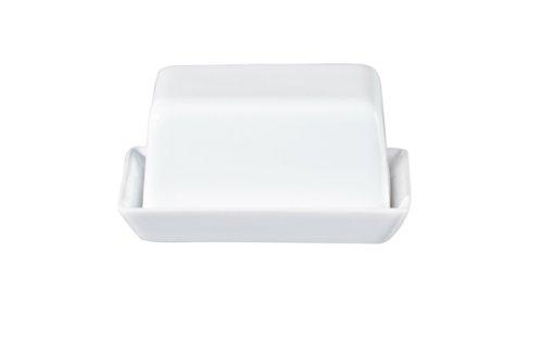 ASA 4708147 Butterdose - GRANDE - Keramik - weiß 16,5 x 13,5 x 7 cm