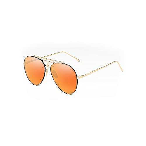 Heigmztyj Sunglasses, Las Gafas de Sol rectangulares de los Hombres, Las Gafas de Sol de Madera polarizadas están Equipadas con Lentes polarizadas de Espejo (Color : Brown)