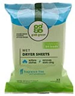 Grab Green Natural Wet Dryer Cloths, Fragrance Free, 32 Sheets