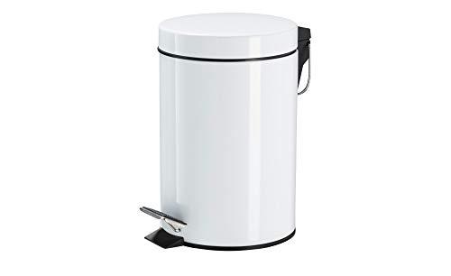 KHG Kosmetikeimer 3l in weiß mit Tretfunktion Kleiner Hygienebehälter für Bad