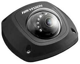 HIKVISION DS-2CD2542FWD-ISB 6MM Network Camera, Compact Mini-Dome, IR, HD, WDR, 3D DNR, Day/Night, H.264/MJPEG, 4 Megapixel Resolution, 6 MM Lens, 10 Meter Range, 12 Volt DC, 5 Watt, PoE, Black