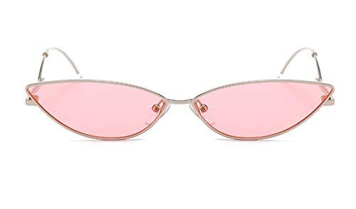 Epinki Damen Polarisierte Sonnenbrille Katzenauge UV400 Schutz Retro Brille | Vollrand | für Outdoor Sport, Reise - Silber Rose