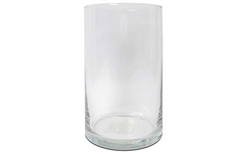 Mega Vases - 6' x 12' Cylinder Glass Vase - Set of 1, Clear