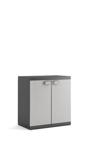 Kis Kunststoffschrank'Logico XL' niedrig, 1 Stück, schwarz/hellgrau, 9695000 0270 01