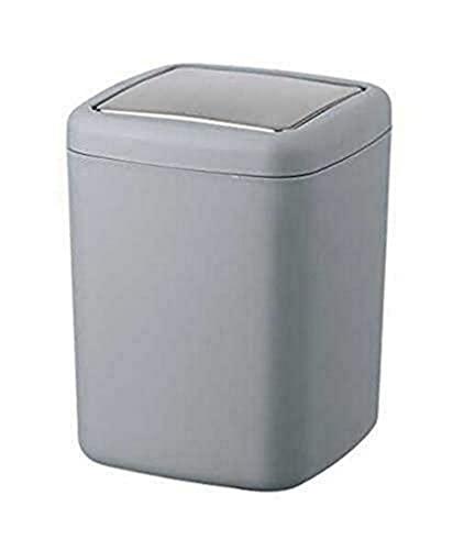 WENKO Schwingdeckeleimer Barcelona S Grau - Kosmetikeimer, absolut bruchsicher Fassungsvermögen: 3 l, Kunststoff (TPE), 15 x 20 x 15 cm, Grau