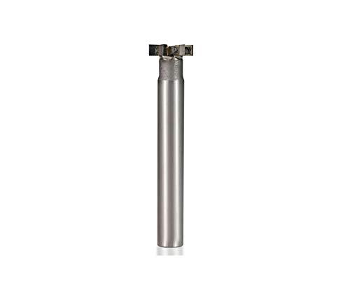 Farleshop 1pc T-Slot Fresa insertado aleación de caña Recta Molino de Extremo de 8-10 mm Broca de la Herramienta chavetero caña for el Metal de carburo de tungsteno Router (tamaño : 16x5Hx10Dx80L)