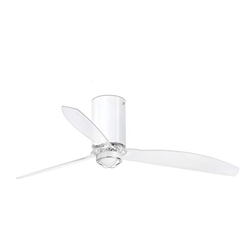 Faro Barcelona 32038-9- MINI TUBE FAN LED Ventilador de techo blanco brillo/transparente con motor DC