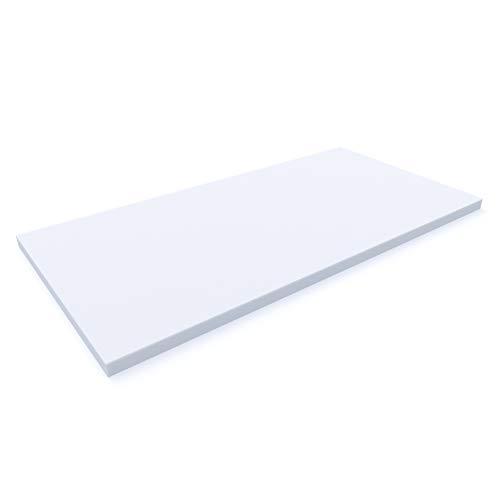MSS e.K. Schaumstoffplatte | Schaumstoff-Zuschnitt | Schaumstoff-Polster | Matratzen-Topper Auflagen | Schaumstoff-Matte | 200 x 90 x 6 cm | RG 25/40 | schadstoffgeprüft