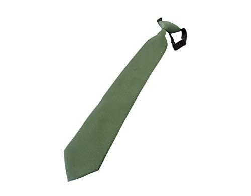 PB Pietro Baldini krawatte mit einstecktuch ohne Binden in diversen Farben - Security krawatte - Krawatte gebunden (Grün)
